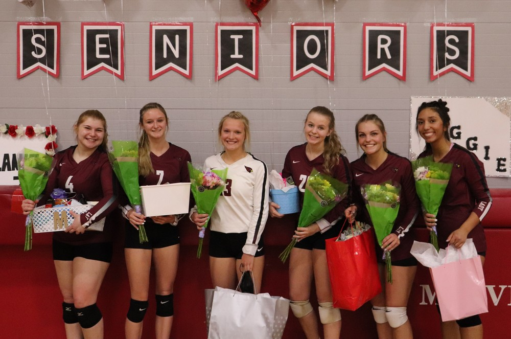 Lady Cards Volleyball Celebrates Seniors